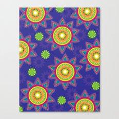 Moroccan Flower Purple Canvas Print