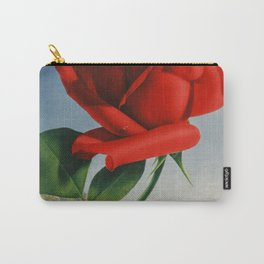 Fresh Red Rose Carry-All Pouch