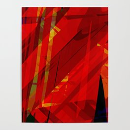 red spiky Poster