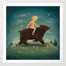 Bear Boy by Emily Winfield Martin Art Print