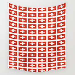 flag of Switzerland -,Swiss,Schweizer, Suisse,Helvetic,zurich,geneva,bern,godard,heidi Wall Tapestry