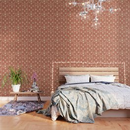 70's Red Floral Wallpaper
