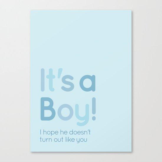 It's a boy! Canvas Print