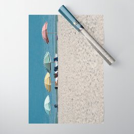 Bald Head Island Beach Umbrellas | Bald Head Island, North Carolina Wrapping Paper