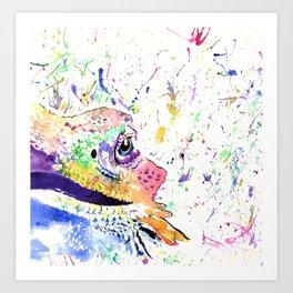 Bearded Dragon in full colour Art Print