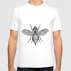 Bee Mens Fitted Tee MEDIUM White