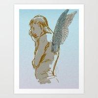 angel wings Art Prints featuring Angel Wings by Paulo Galvin