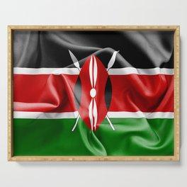 Kenya Flag Serving Tray