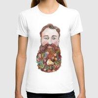 beard T-shirts featuring Beard by msbordrog
