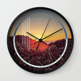 Peel sunset - circle graphic ll Wall Clock