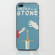 The Sword in the Stone - Walt Disney Minimal Movie Poster iPhone & iPod Skin