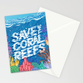 Save the Coral Reefs Stationery Cards