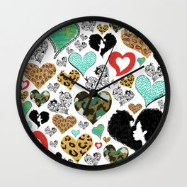 Cross My Heart Wall Clock