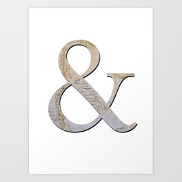 French Ampersand Art Print
