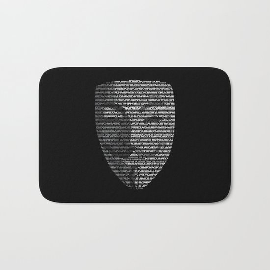 ...You May Call Me 'V' – So who's Anonymous? Bath Mat