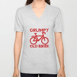 Senior Citizen T-Shirt Gift Grumpy old biker Unisex V-Neck