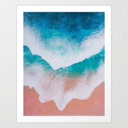 Amazing ocean waves whit epoxy resin Art Print
