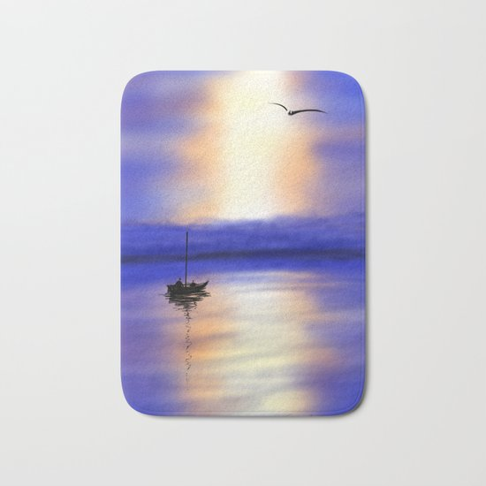 Digital Sunset Bath Mat