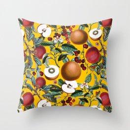 Vintage Fruit Pattern V Throw Pillow