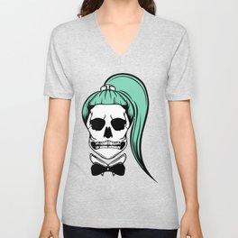 Lady Skull Unisex V-Neck