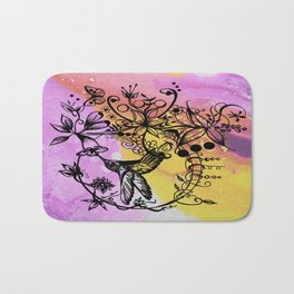 Abstract Painting HUMMINGBIRD VI Bath Mat