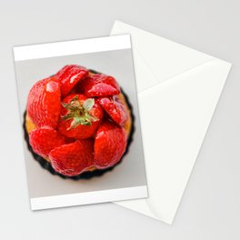 Strawberry French Patisserie   Fine Art Stationery Cards