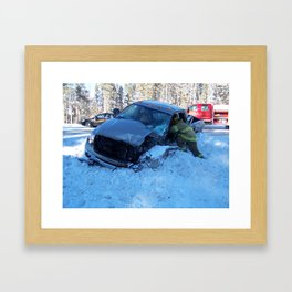 A Glancing Blow Framed Art Print