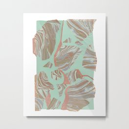 Abstract Marble and Mint 2 Metal Print