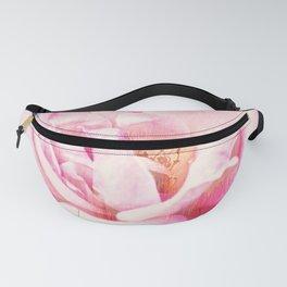 Pink Rose Glitch Fanny Pack