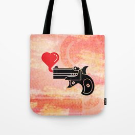 Pistol Blowing Bubbles of Love Tote Bag