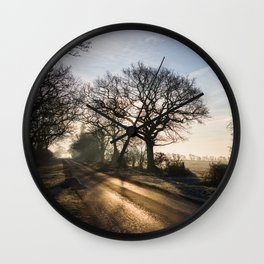 Heading East Wall Clock