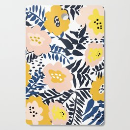 Outdoor: florals matching to design for a happy life Cutting Board