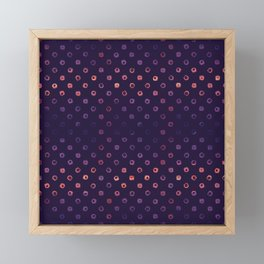 Abstract Gradient Circles on Purple Background Framed Mini Art Print