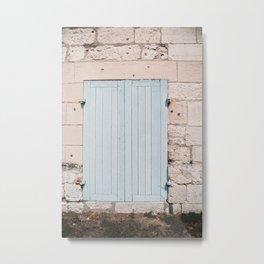 Blue door   France   europe   Normandie   travel photography Metal Print