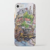 calcifer iPhone & iPod Cases featuring Howls Moving Castle Painting 2 by Little Miss Marikit