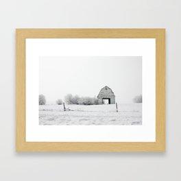 The White Barn Framed Art Print