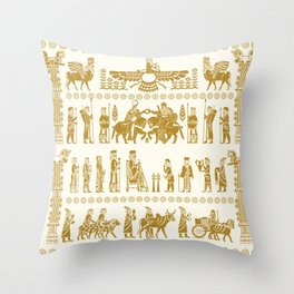 The Apadana or Audience Hall of Persepolis Design Throw Pillow