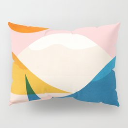 Abstraction_Lake_Sunset_Minimalism_002 Pillow Sham