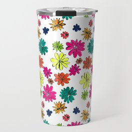 Blotted Flowers collection Travel Mug