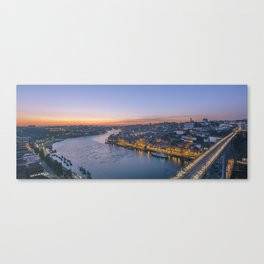 The view from Serra do Pilar - Porto and Gaia Canvas Print