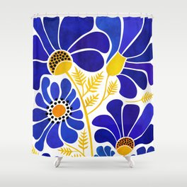 The Happiest Flowers Shower Curtain