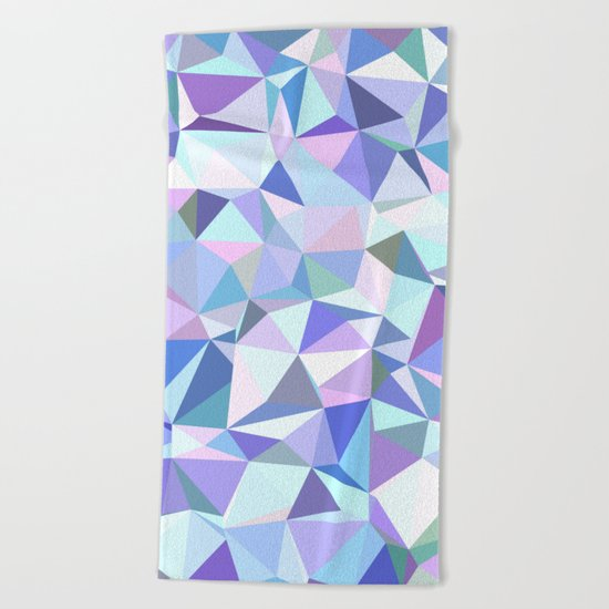 Light purple geometry Beach Towel