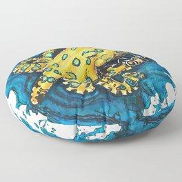 Blue-ringed octopus Floor Pillow