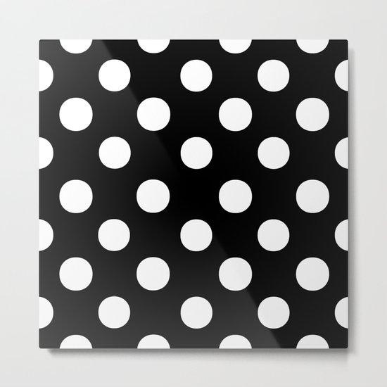 Polka Dots (White/Black) Metal Print