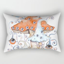 Magical world of mushrooms Rectangular Pillow