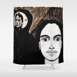 The TIC TOC FRIDA menAge Shower Curtain