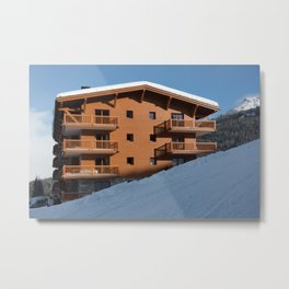 Mountain chalet, holiday home Metal Print