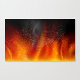 fire on a black background dark decoration Canvas Print
