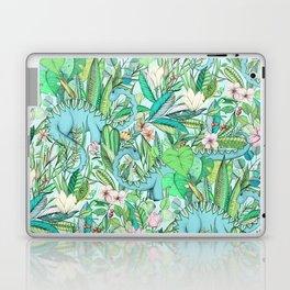 Improbable Botanical with Dinosaurs - soft pastels Laptop & iPad Skin