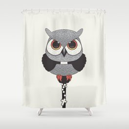 Exorcist Owl Priest Shower Curtain